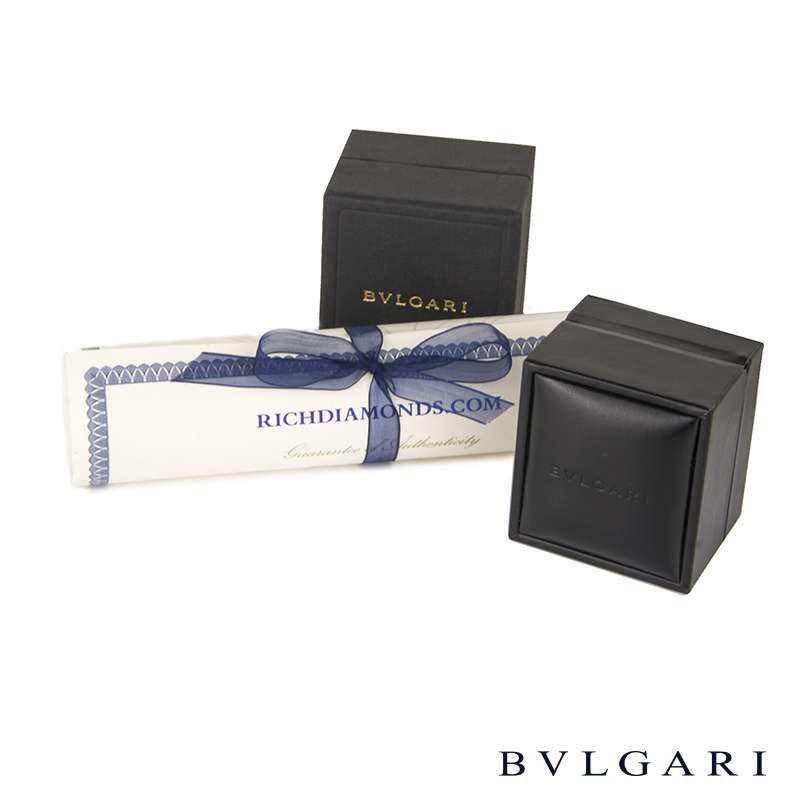 Bvlgari 18k Rose Gold & Black Ceramic B.zero1 Ring AN855563